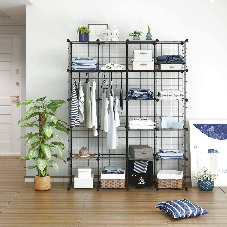 Tespo Wire Cube Storage Shelves Book Shelf Metal Best Offer Cube
