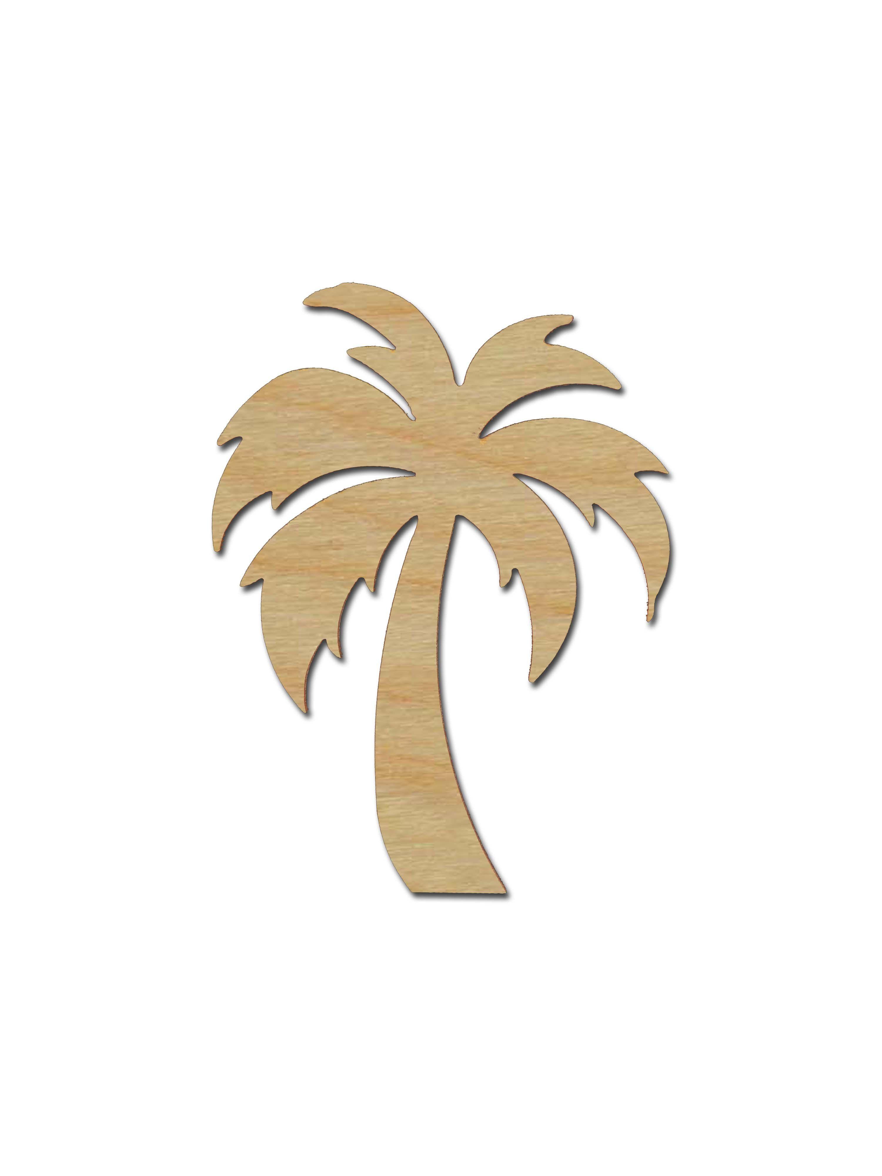 Palm Tree Shape Unfinished Wood Cutout Variety Of Sizes