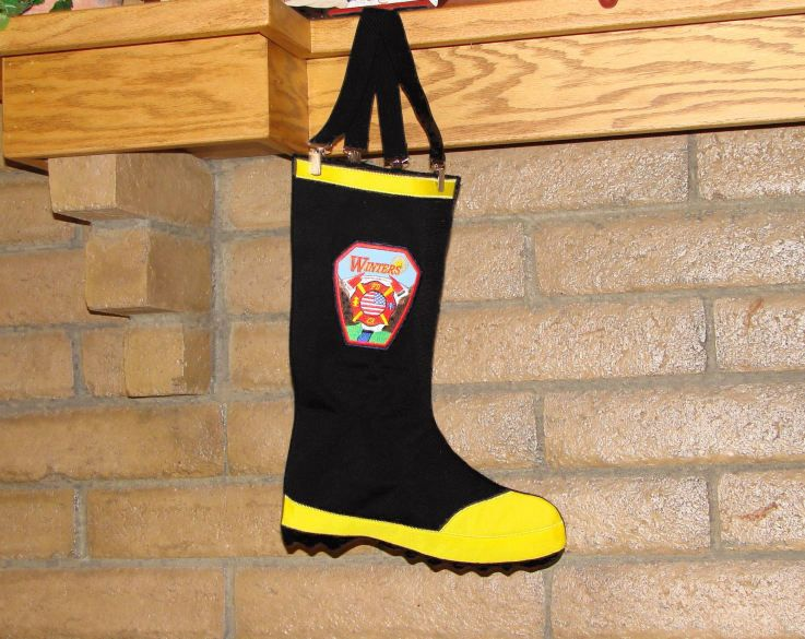 Firefighter Christmas Stocking.Perfect I Need To Make This Out Of Felt For The Bf