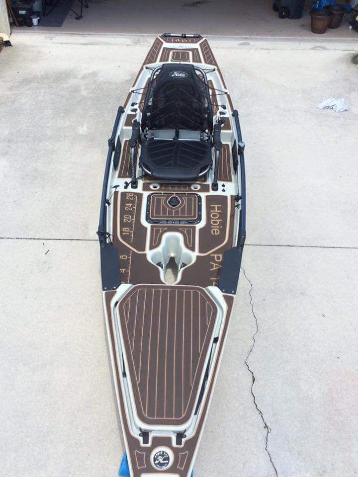 Marine Mat Installed On Hobie Pa 14 Kayak Fishing Gear Hobie Kayak Angler Kayak