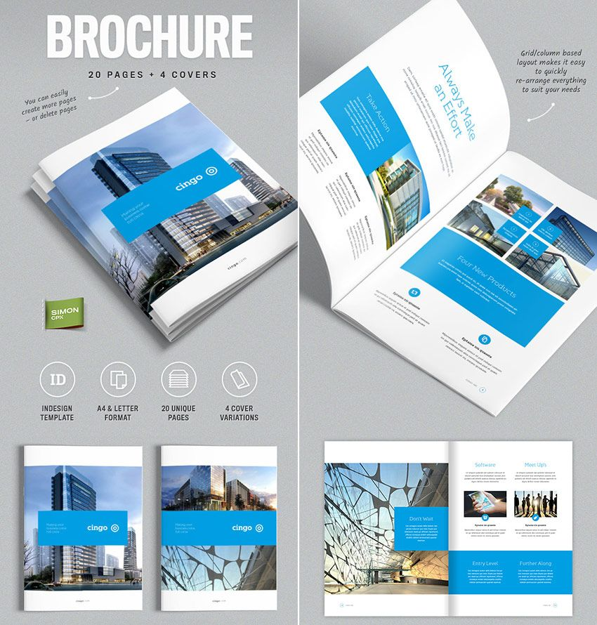 Brochure Template For Indesign Cingo Magazyny X Okadki