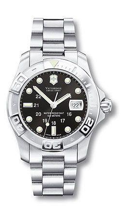 Dive Master 241037 - 500M - Large Black Dial - Stainless Steel Bracelet