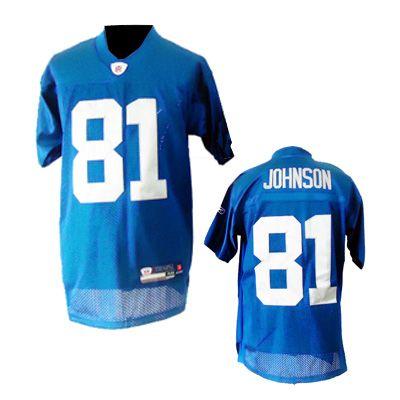 Calvin Johnson Jersey, Reebok 2011 New Detroit Lions Authentic NFL Jersey  in Blue