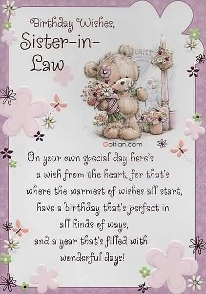 Golfian 70 Most Beautiful Birthday Wishes For Sister In Law Best Q