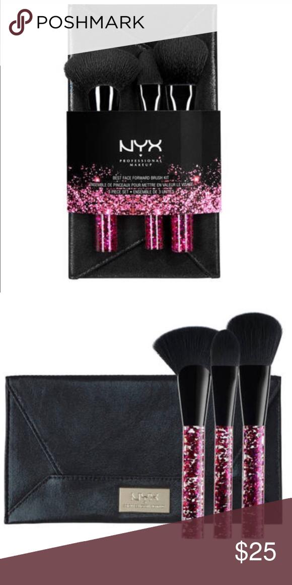 ️NEW! ️NYX Best face forward brush kit. 3 pcs set NWT