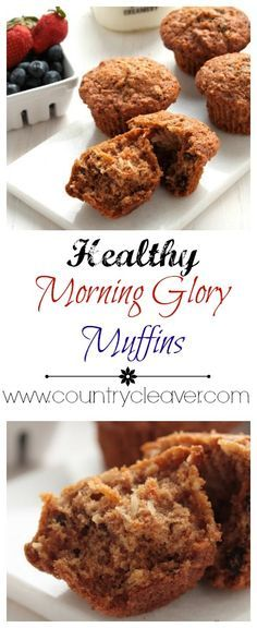 Veggie Packed Morning Glory Muffins - www.countrycleaver.com