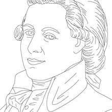 wolfgang amadeus mozart famous austrian composer coloring page