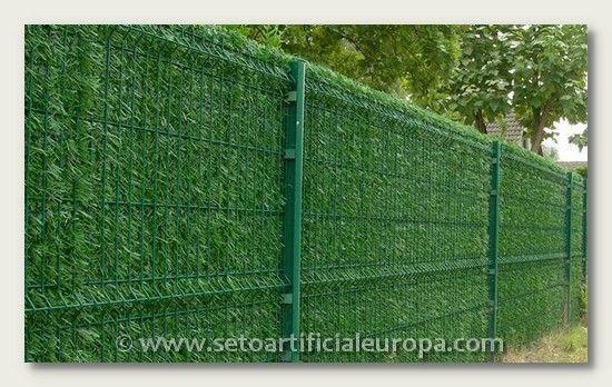 Seto artificial europa ideal para ocultacion de jardines - Plantas para vallas ...