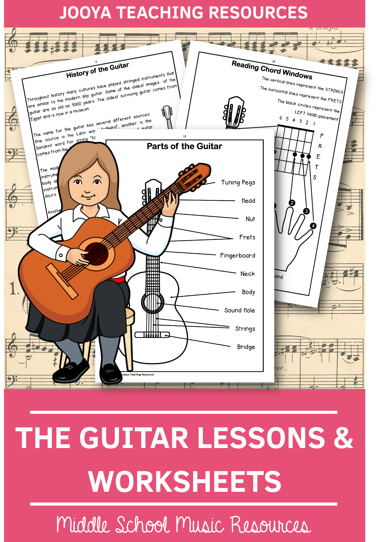 The Guitar Worksheets And Lessons