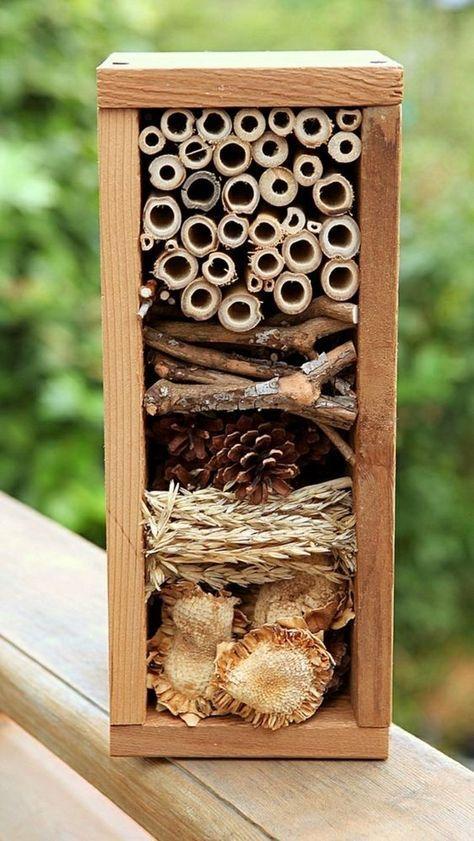 Insektenhotel selber bauen - Ausführliche Bauanleitung für umweltbewusste Hobbygärtner! #vogelhausbauen