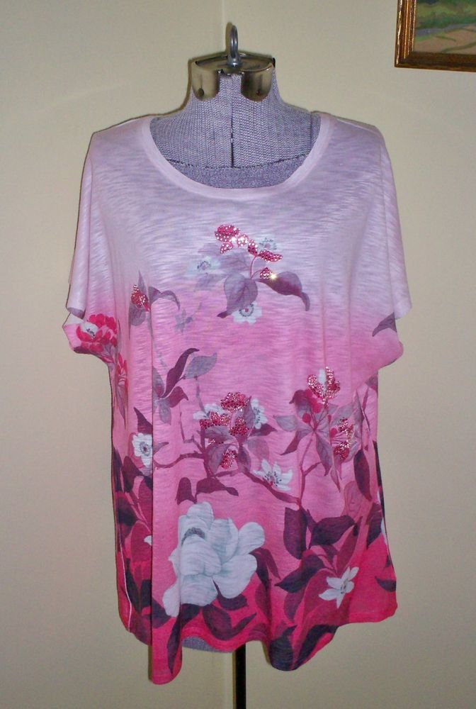aa59a40e6e6 Women s Plus Size 1X Fashion Bug Top Shirt Blouse Tunic 50