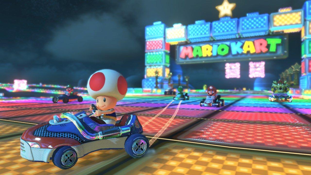 Toad Rainbow Road Mario Kart 8 Dlc Met Afbeeldingen