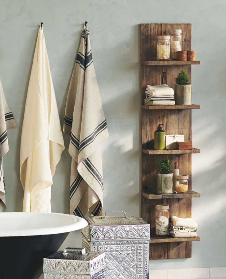 DIY Bathroom Shelves To Increase Your Storage Space | Pallet shelves ...