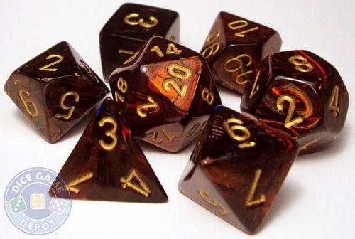 RPG dice set - Scarab - Blue Blood