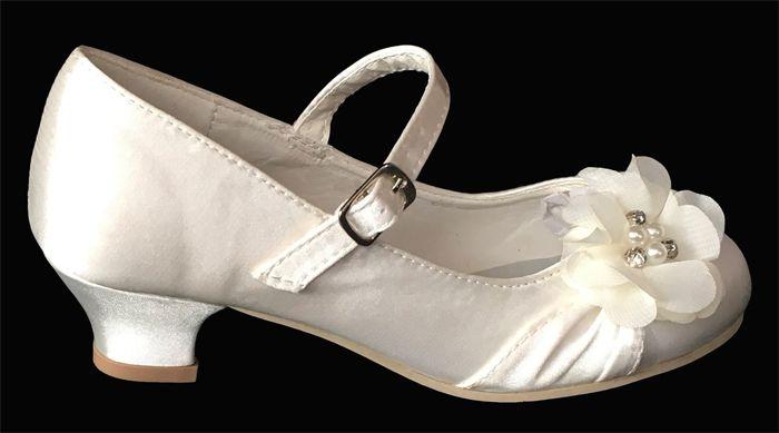 b6792a80912 Παιδικά Σατέν Παπούτσια Για Κορίτσια, Γοβες Για Παρανυφάκι - Γάμο, Βάπτιση,  Πάρτι σε Ιβουάρ