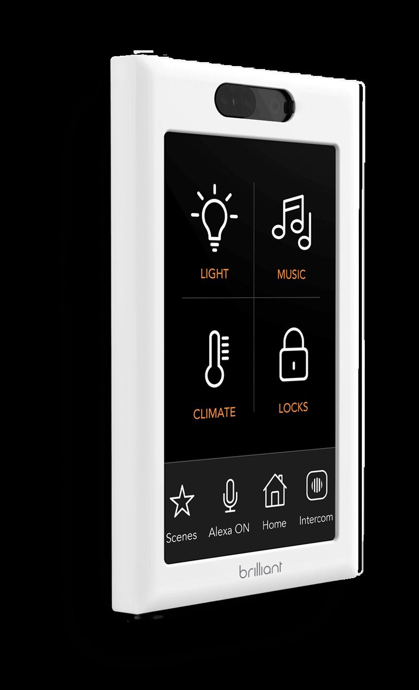 Brilliant Home Control 1 Switch Control Alarm Systems For Home Home Security Systems Home Security