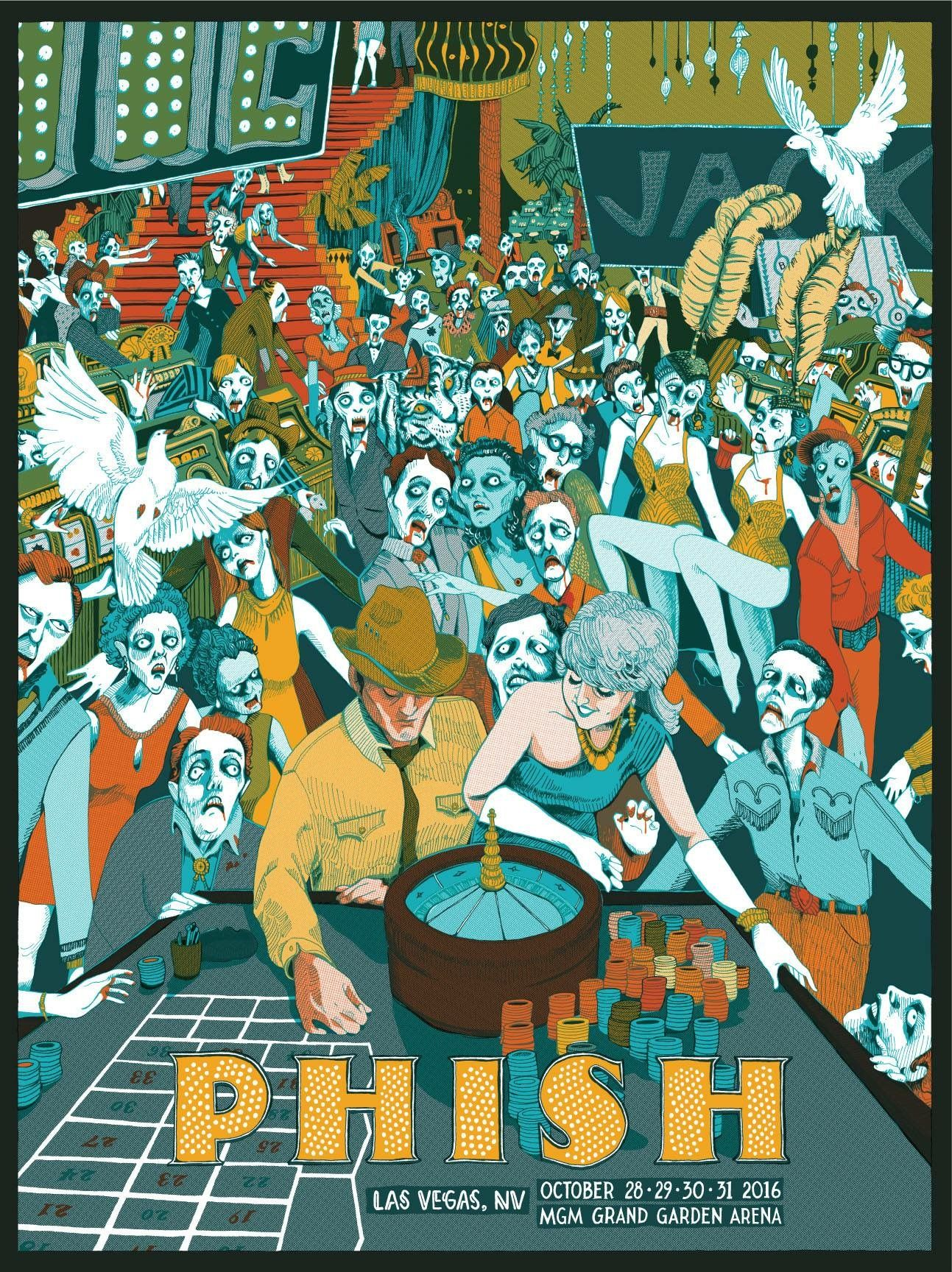 Official Phish Halloween Poster 2020 28 31 October 2016 The second of three LE posters for Phish's Las