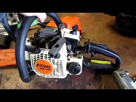 How To Carburetor Fuel Line Repair On Stihl 017 Ms170 018 M180 Chainsaw Part 2 3 Youtube Chainsaw Repair Chainsaw Repair