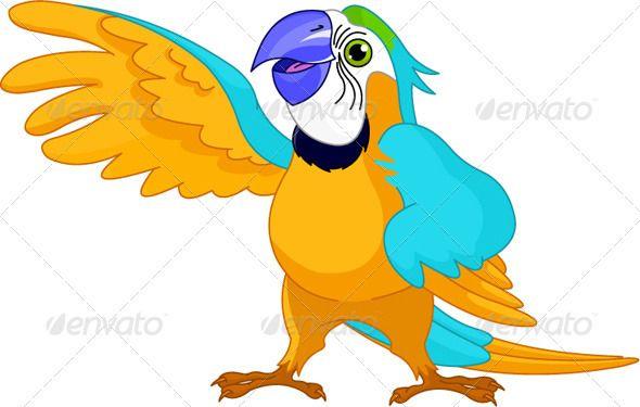 Talking Parrot Blue Cartoon Character Talking Parrots Parrot Pet