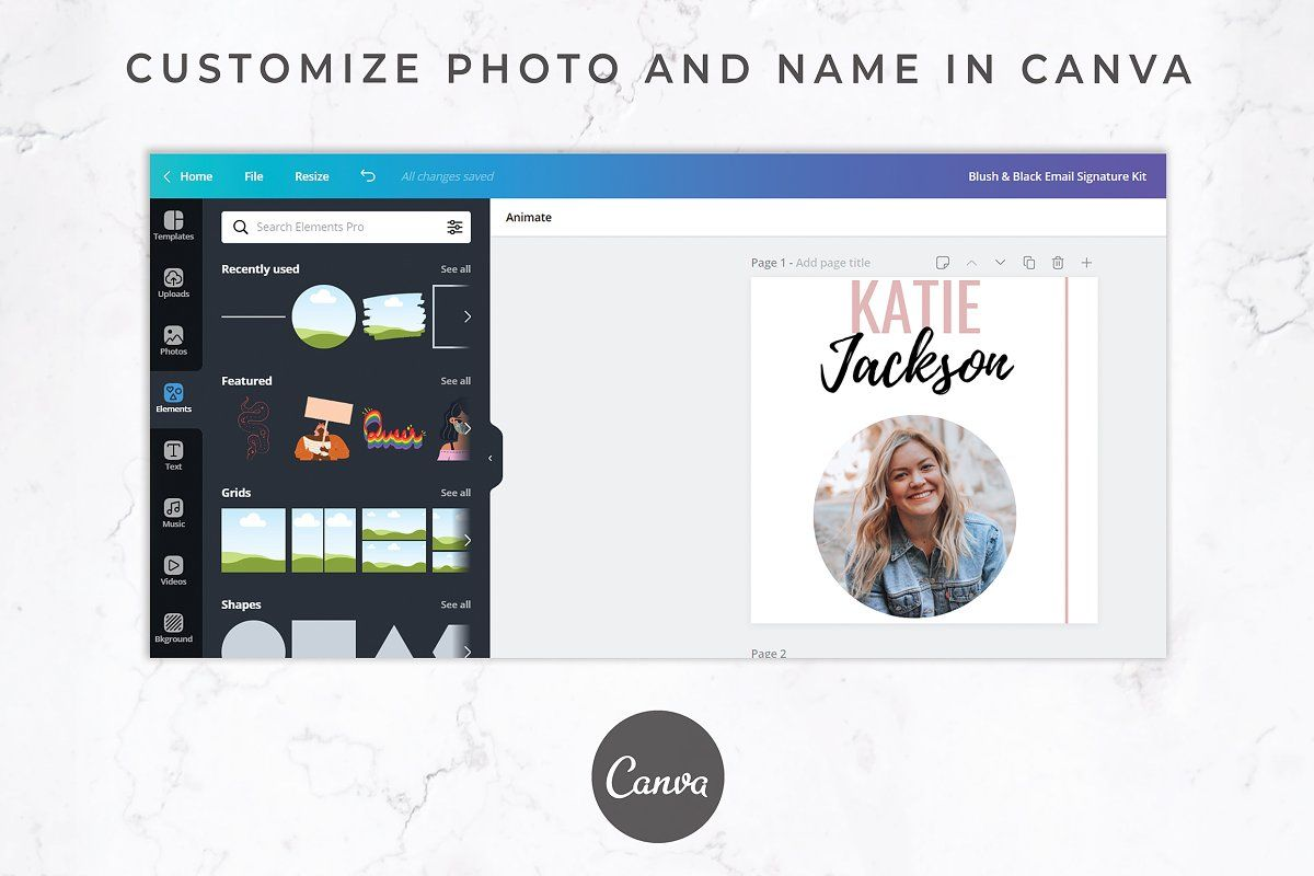 Ad Email Signature Canva + Gmail by Thirty One Palms
