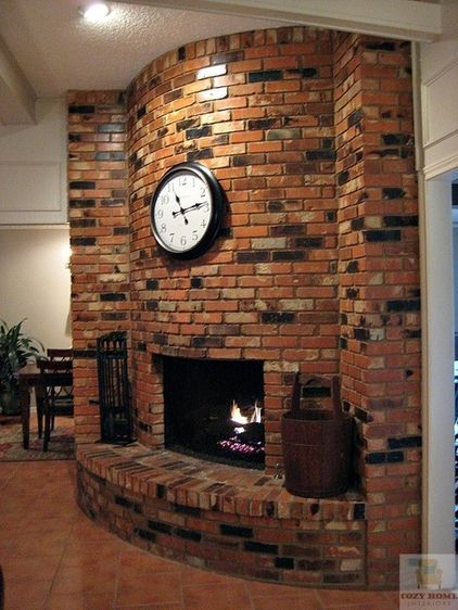 Beautiful Curved Brick Fireplace Brick Fireplace Curved Fireplace Brick Hearth