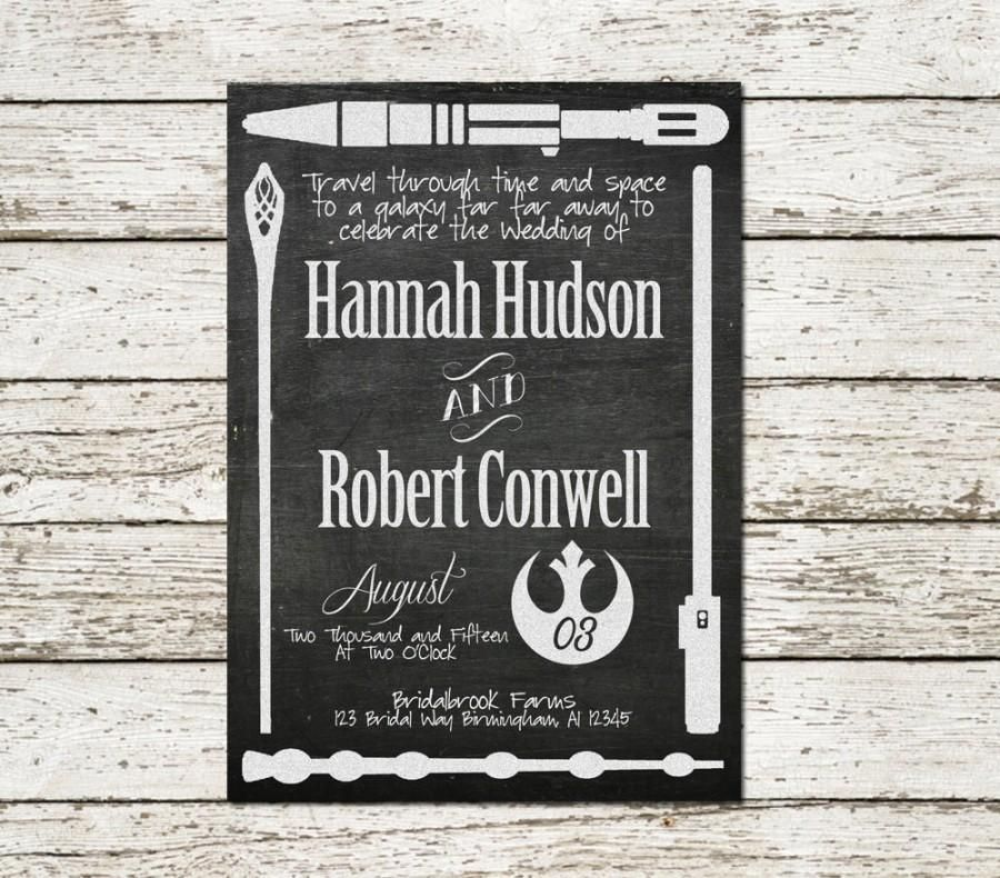 Printable Wedding Invitation Star Wars Lord Of The Rings Harry Potter Dr Who D Nerdy Wedding Invitations Printable Wedding Invitations Geek Wedding Invitations