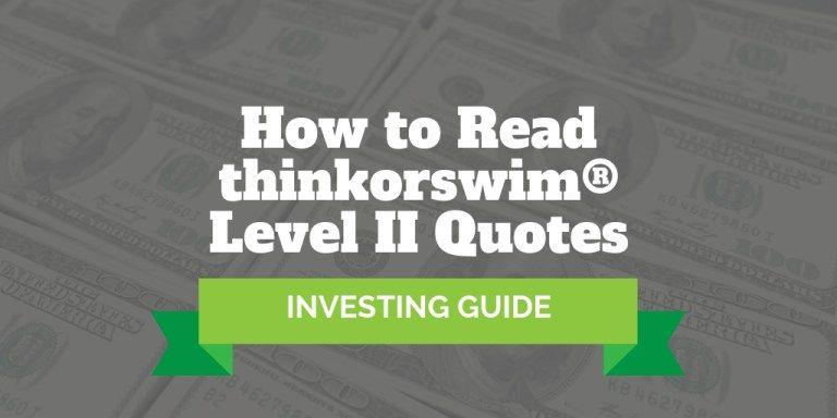 how to read level 2 market data thinkorswim