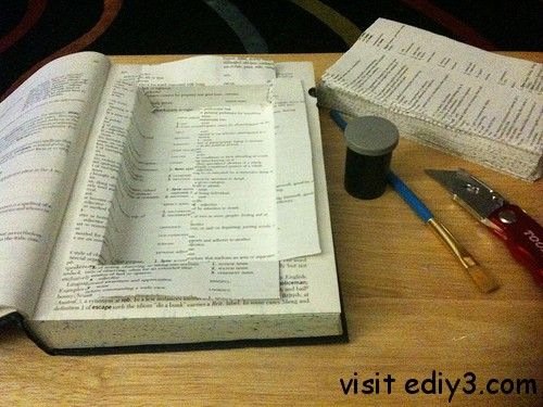 Making A Book Safe Easy Craft Ideas