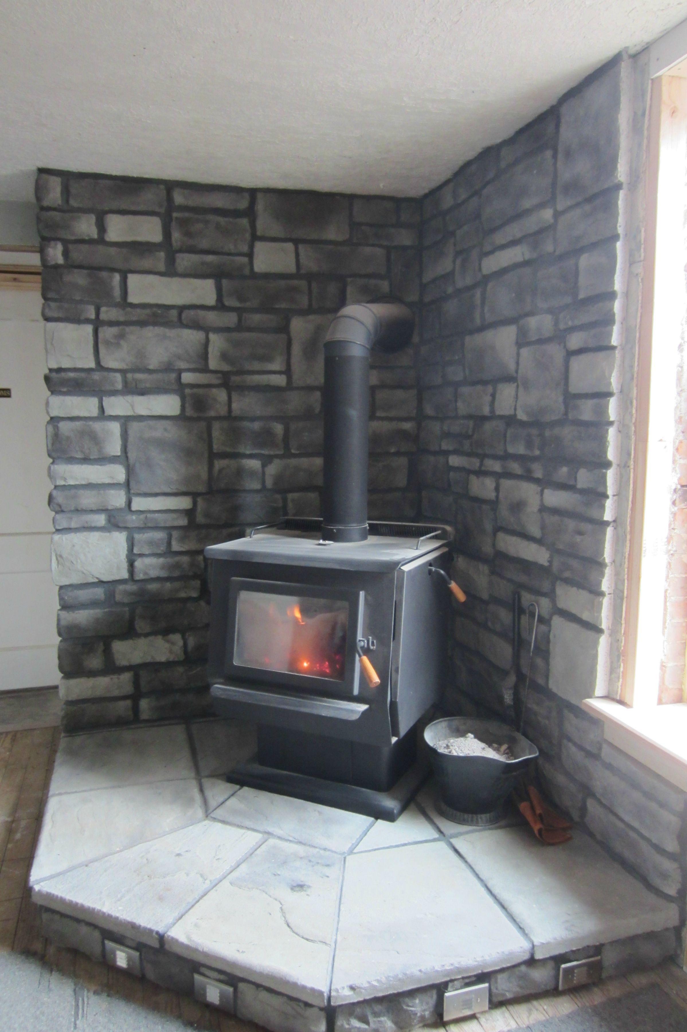 Woodburner Hearth Build With Images Wood Burning Stove Corner