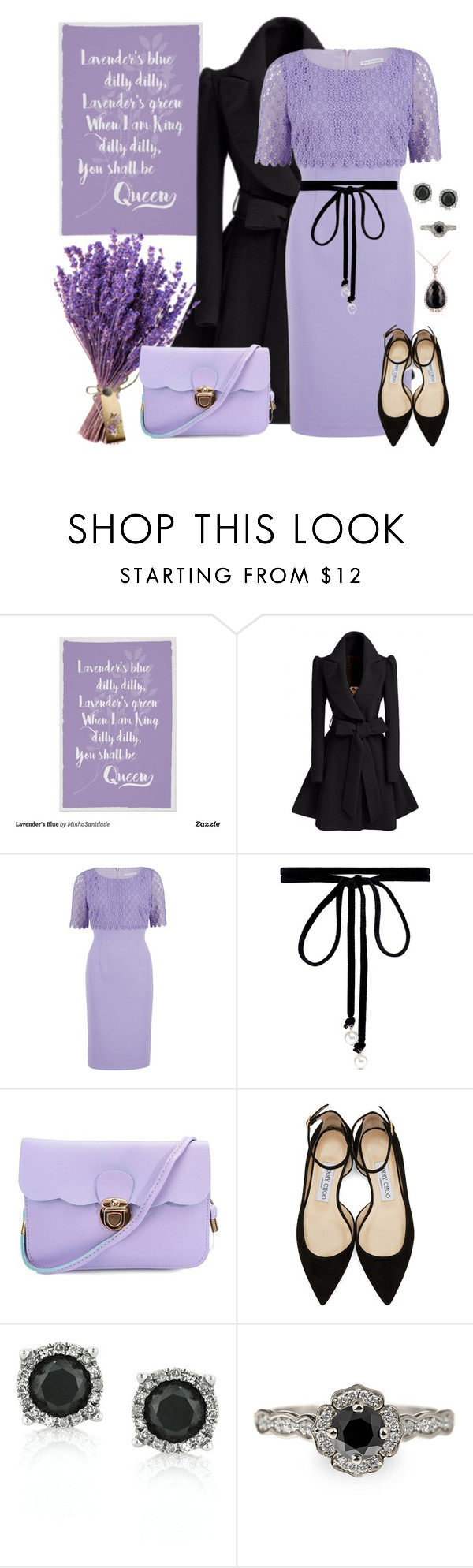 """""""You shall  be queen"""" by joyfulmum ❤ liked on Polyvore featuring Gina Bacconi, Joomi Lim, Jimmy Choo, Mark Broumand and Kobelli"""