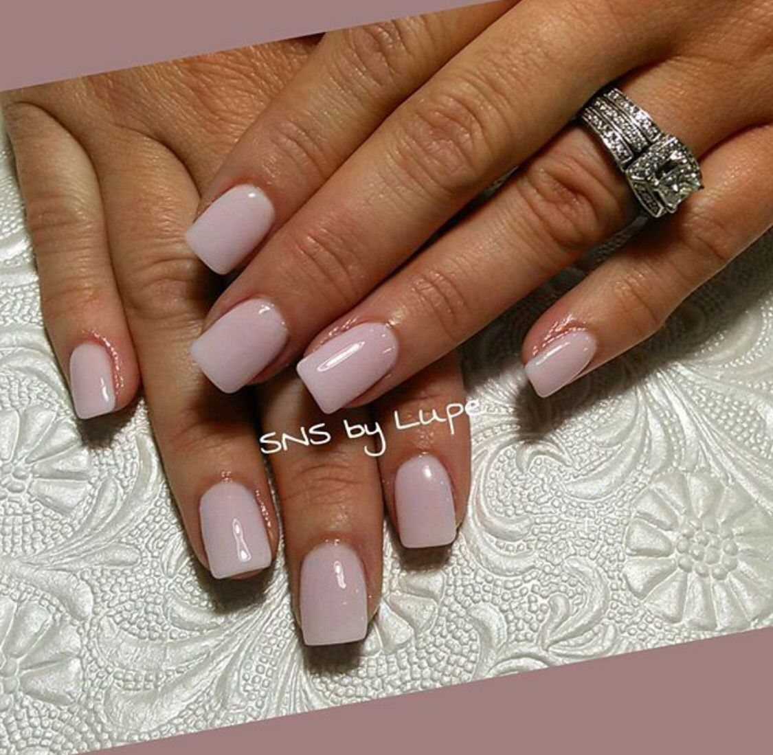 SNS nails in nude collection by Lupe ! | Nails | Pinterest | Sns ...