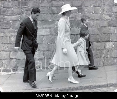 April 19 1987 Easter Sunday Service at St. George's Chapel in Windsor.
