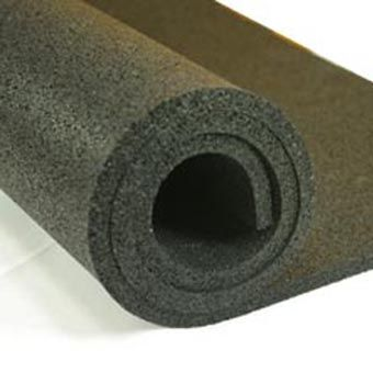 Plyometric Rubber Roll 8 Mm 4x10 Ft Black Gym Flooring Basement Gym Gym Mirrors
