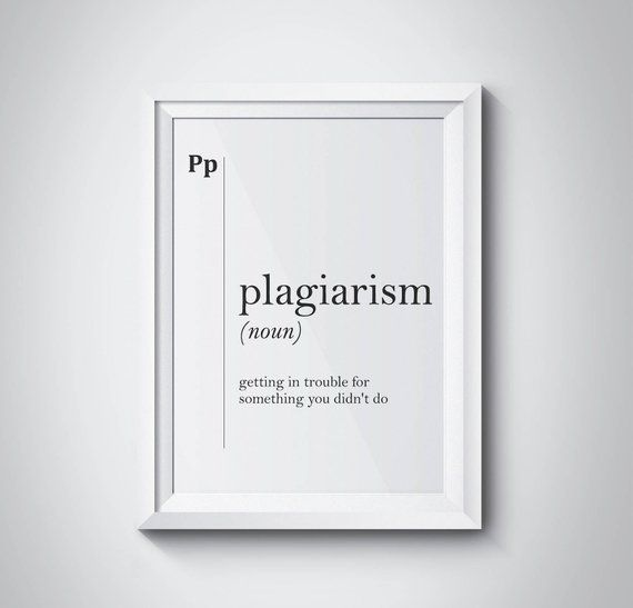 Plagiarism Definition Funny Print Musician Gift Artist Gift Designer Gift Copywriter Gift  Definitio