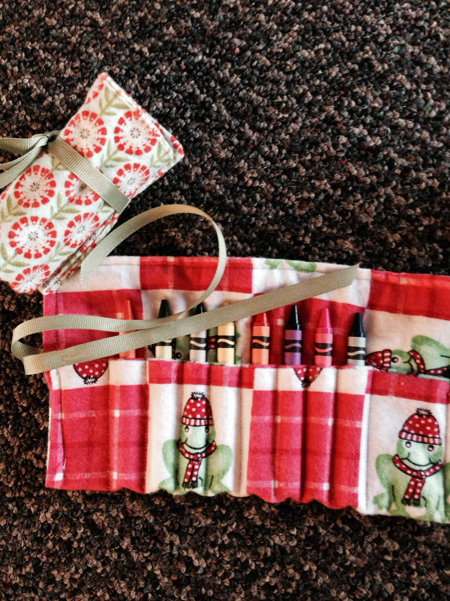 Home sewn crayon carry roll up......in stores for up to $13.... Less than half that at the fair!