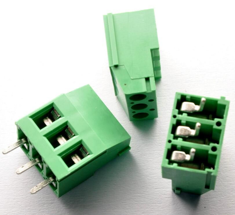 100pcs 3 Pin Screw Terminal Block Connector 5mm Pitch G