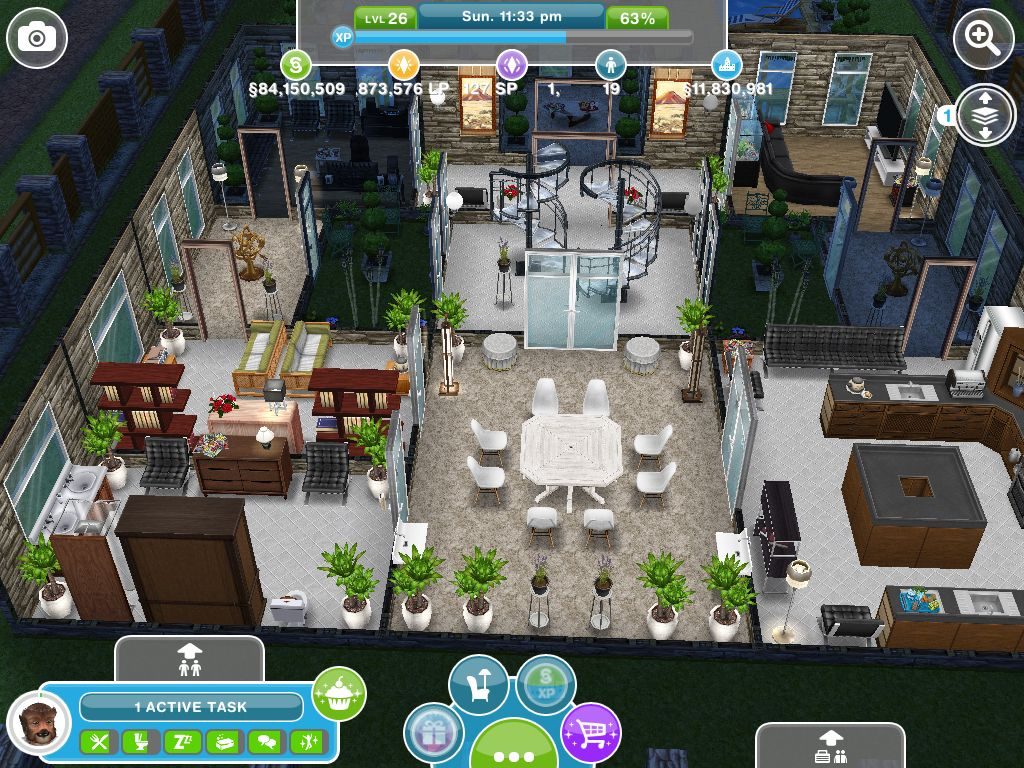 The interior of henry ravenscar 39 s house taken from for Casa de diseno sims freeplay