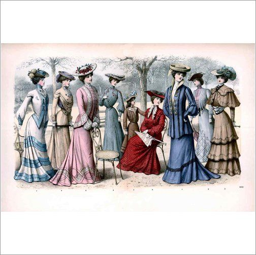 Edwardian Fashion Ladies Print
