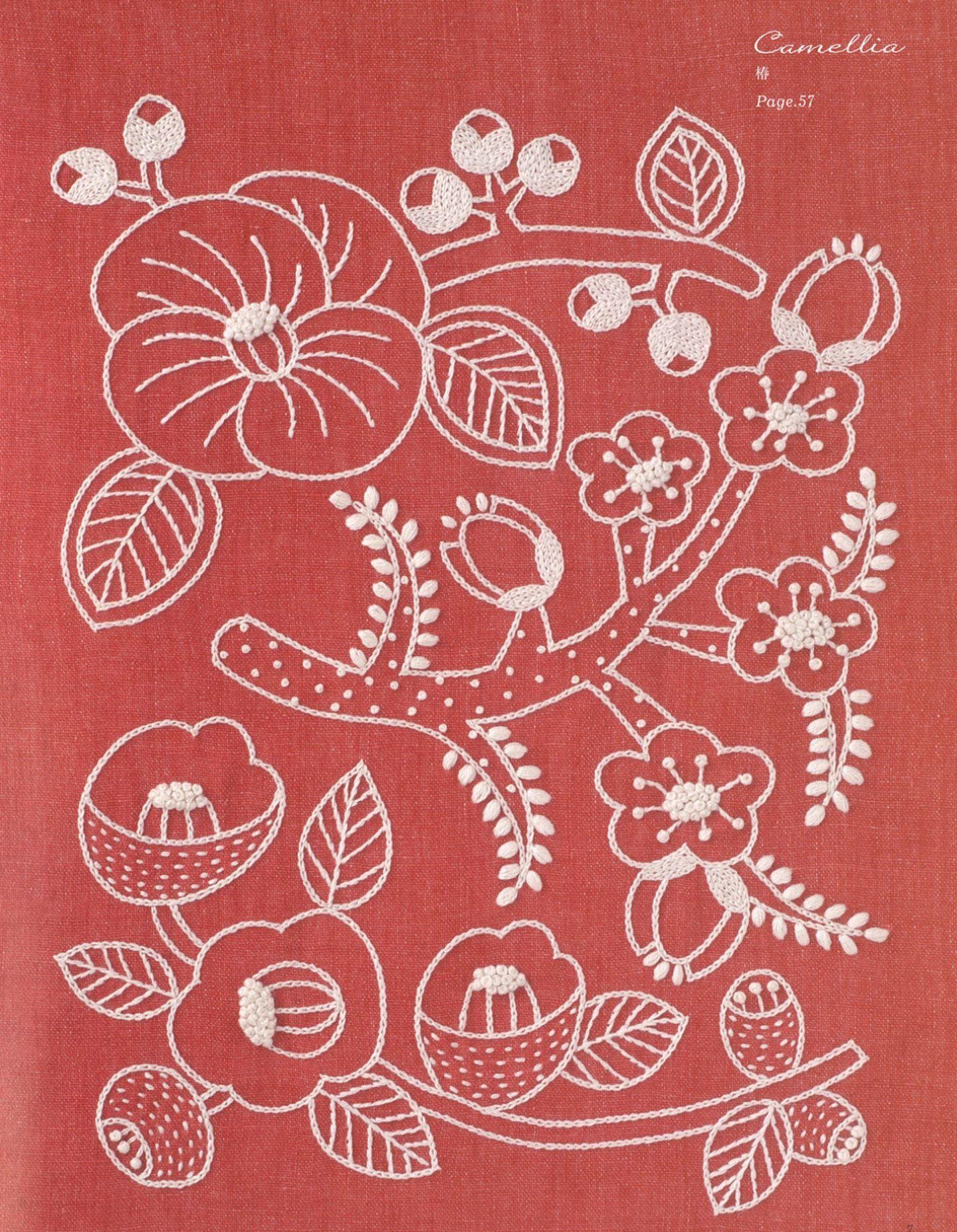 樋口愉美子のステッチか月 Вышивка pinterest embroidery