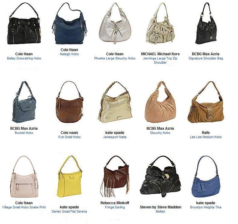 Names Of Handbags Styles