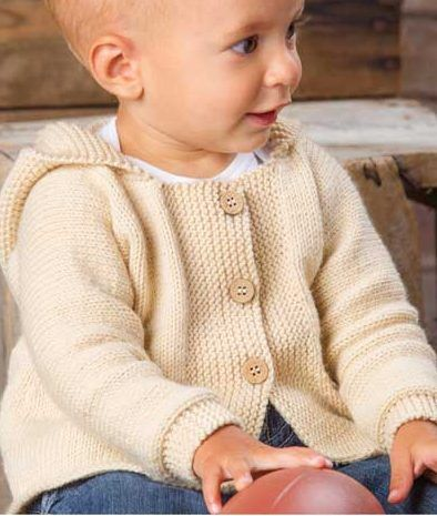1da2ce6f2b65 Knitting pattern for Happy Cheer hooded baby cardigan sweater ...