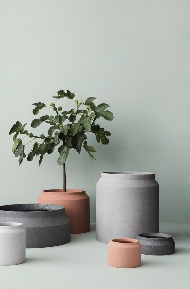 Light Grey Concrete Pot Planter Pots Indoor Large Plant Pots