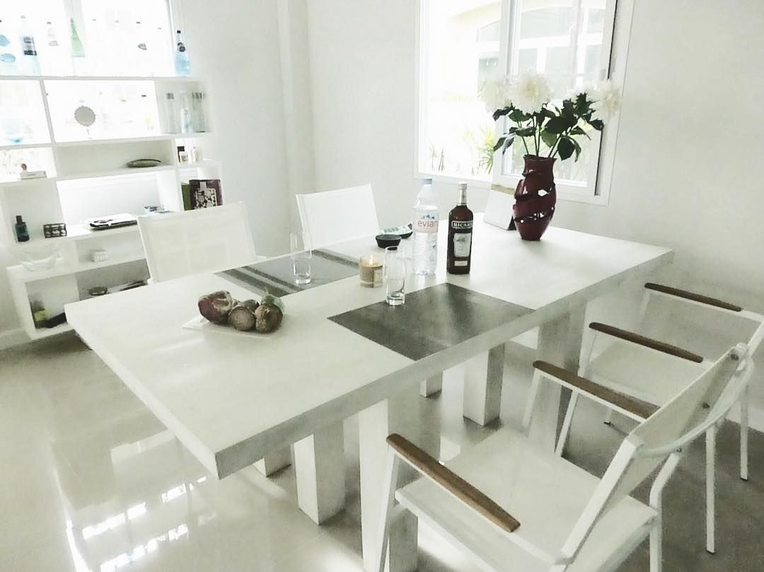 Dining room by kohedesignbali bali white interiordesign table