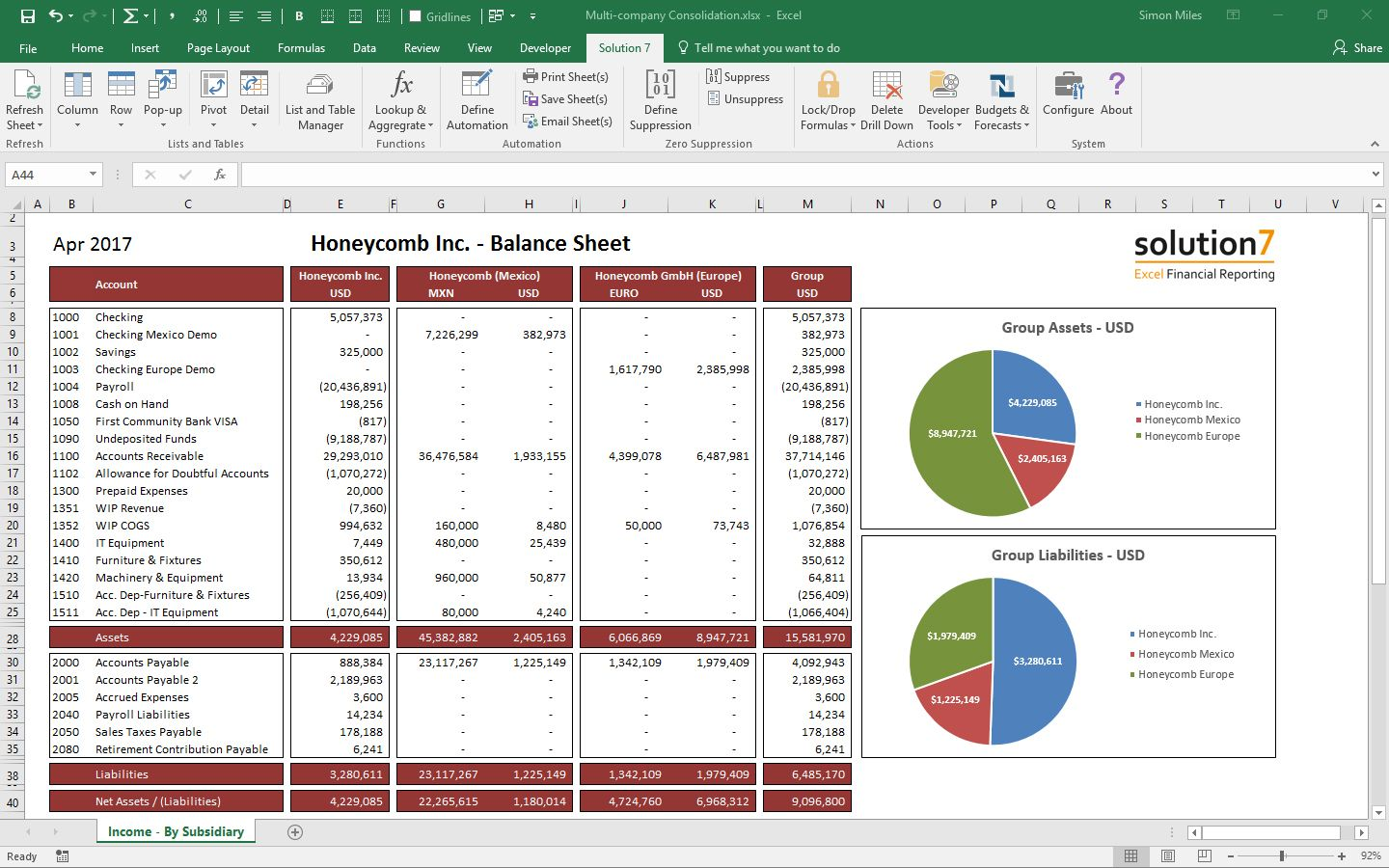 The Terrific Solution 7 Excel Financial Reporting