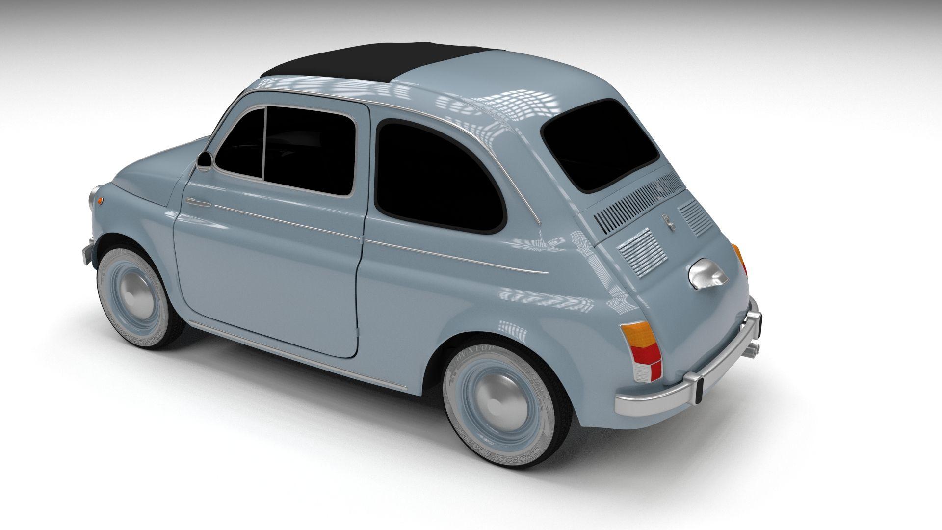 Fiat 500 Nuova 1957 Hdri 3d Model With Images Fiat 500 Fiat