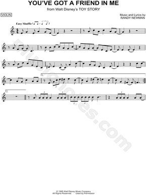 You Ve Got A Friend In Me From Toy Story Sheet Music Violin