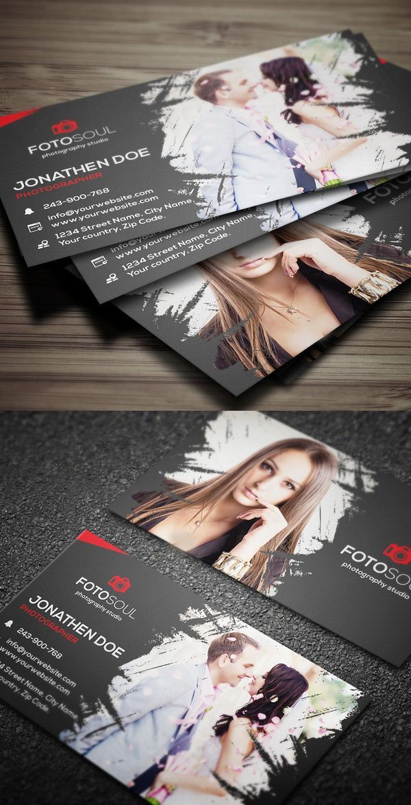 Creative Modern And Clean Photography Business Card Templates For Professional Photographers Designers