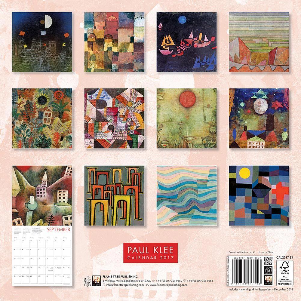 Paul Klee 2017 Wall Calendar Wall Calendar 2017 Wall Calendar Calendar
