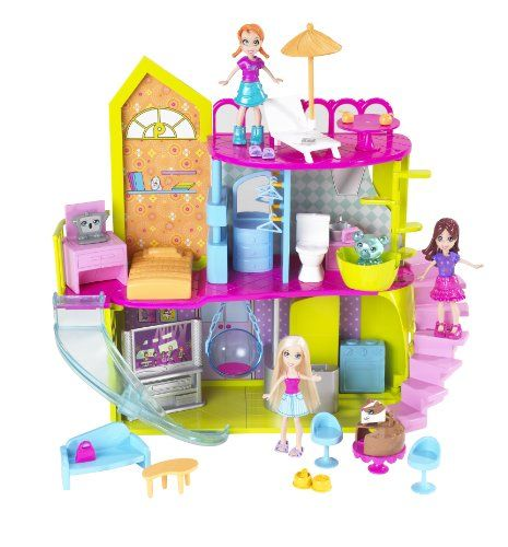 24 99 Baby The Polly Pocket Pollyworld House Is Full Of All The Amazing Things You D Expect From A Girl Like Polly Polly Pocket Toys For Girls Barbie Doll Set
