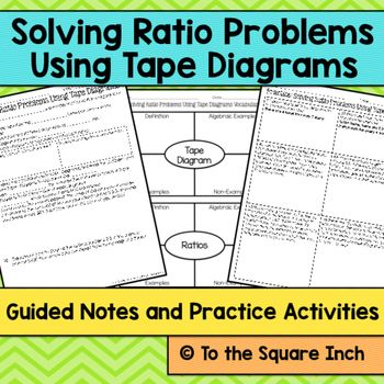 Ratios with tape diagrams notes diagram math and note elementary math solving ratio problems using tape diagrams ccuart Gallery